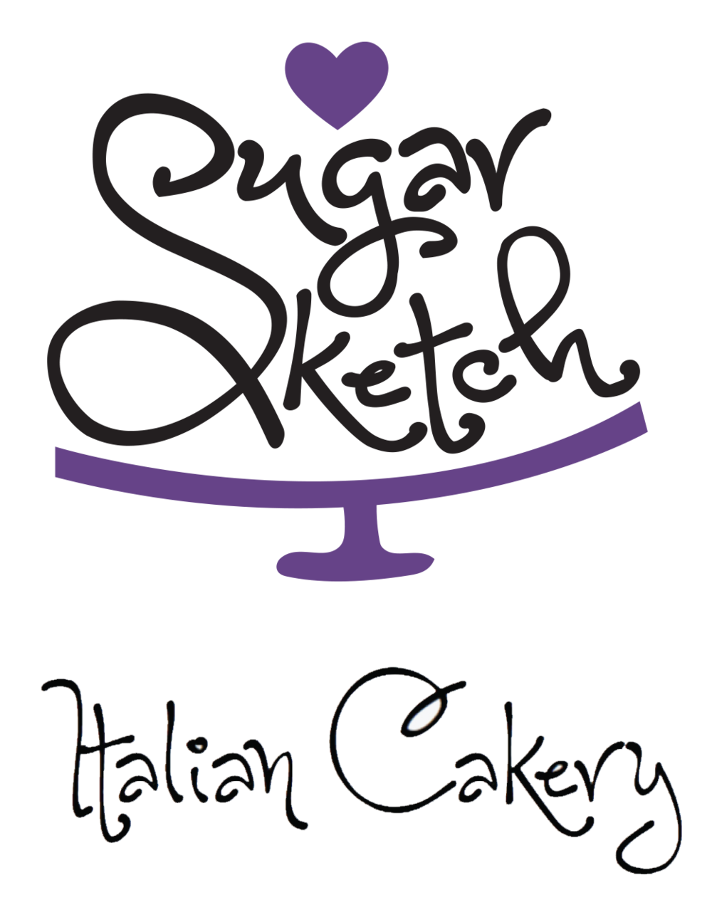 Pastry drawing poster. Sugar sketch