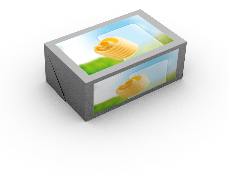 Pat of butter png. The packaging agral