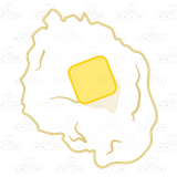 Pat of butter png. Abeka clip art mashed