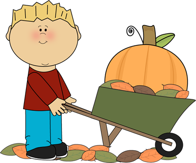 Wheelbarrow clipart feed cat. Fall clip art images