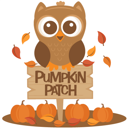 Pumpkin clip patch. Owl in svg scrapbook