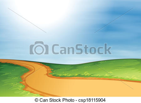 Pathway clipart. A narrow illustration of svg free download