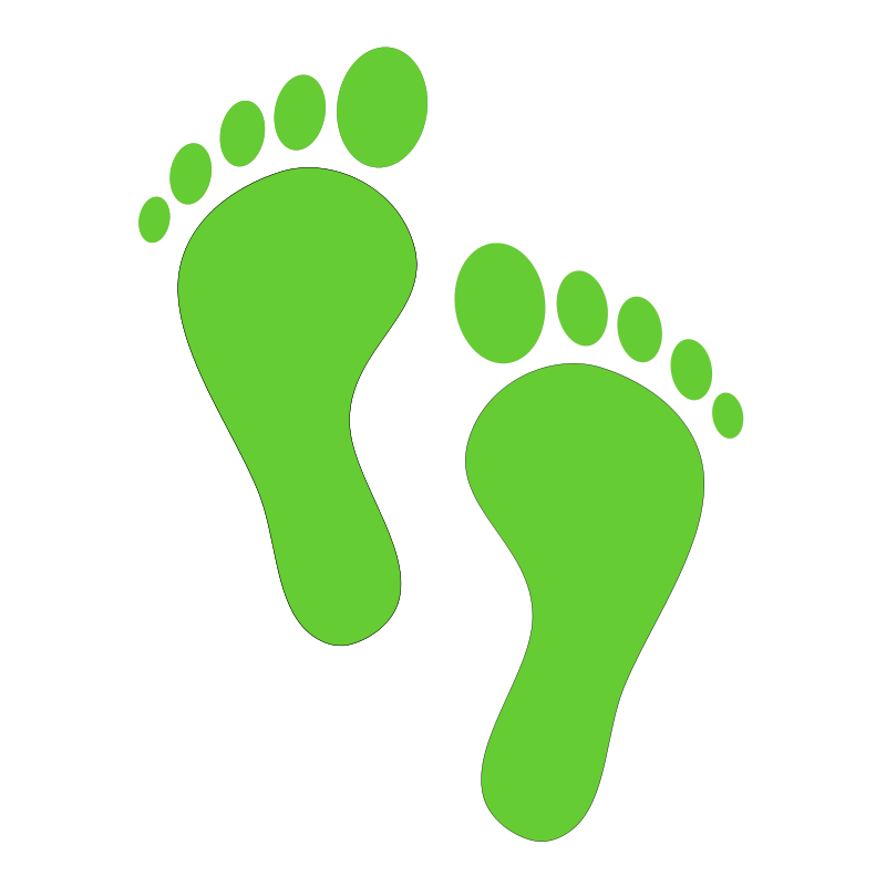 Free footprints clipart download. Footprint transparent graphic black and white library