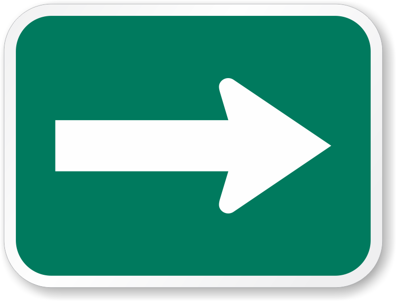 Path clipart two arrow. Green signs for bike