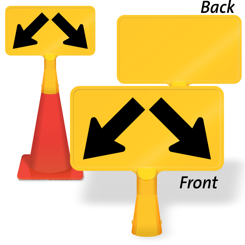 Path clipart two arrow. Downward diagonal coneboss sign