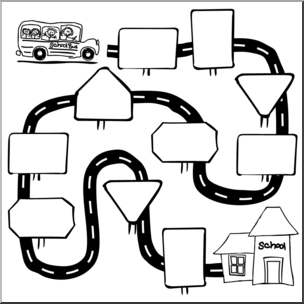 Pathway clipart. Clip art sequence b freeuse download