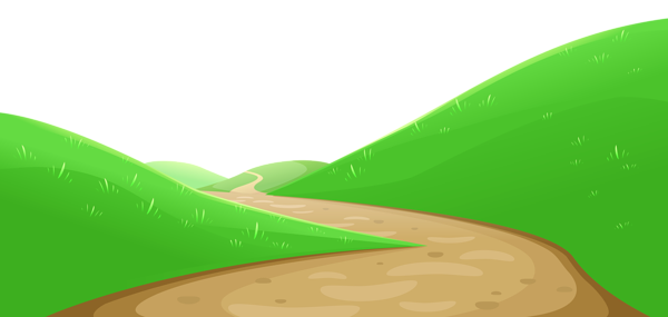 Pathway vector. Valley with png clipart