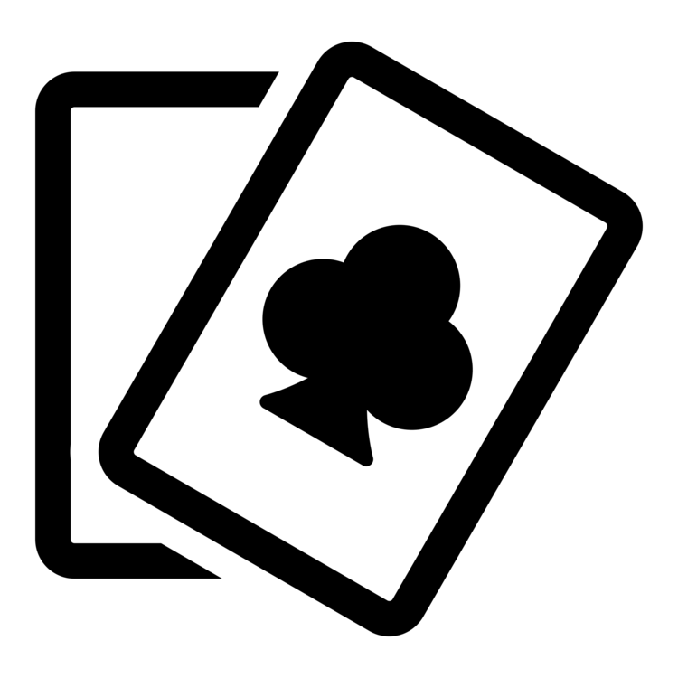 Poker clipart black and white. Computer icons card game