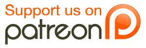 Patreon transparent button. Support us on straight