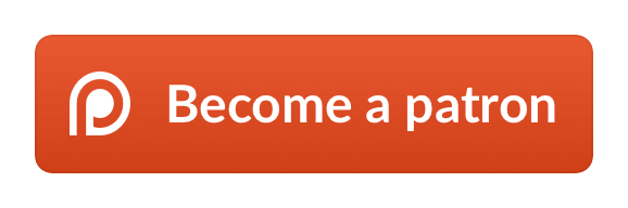 Patreon transparent donate button. Donations serialized horror drama