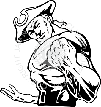 Patriot vector drawing. With fist