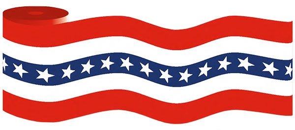 Patriotic clipart bunting. Deaft west arch flag