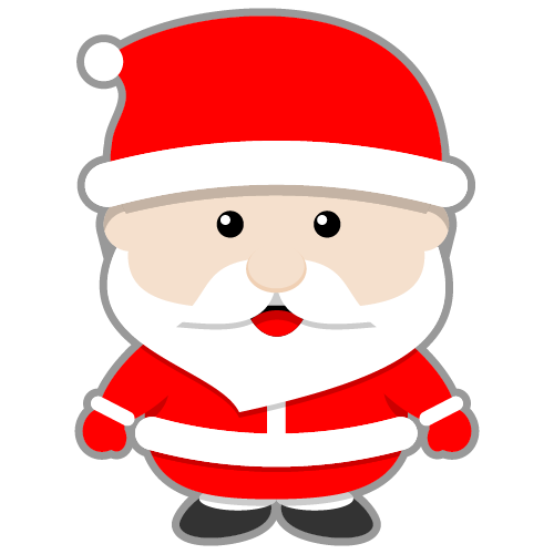 Santa clipart easy. Cute