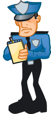 Patrol clipart patrol officer. Cop writing a ticket