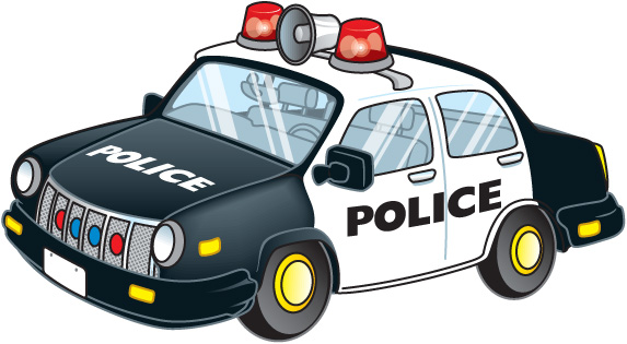 Patrol clipart police vehicle. Pencil and in color