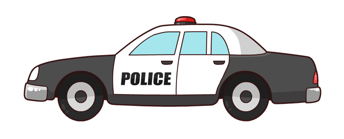 Patrol clipart police vehicle. Car officer pencil and