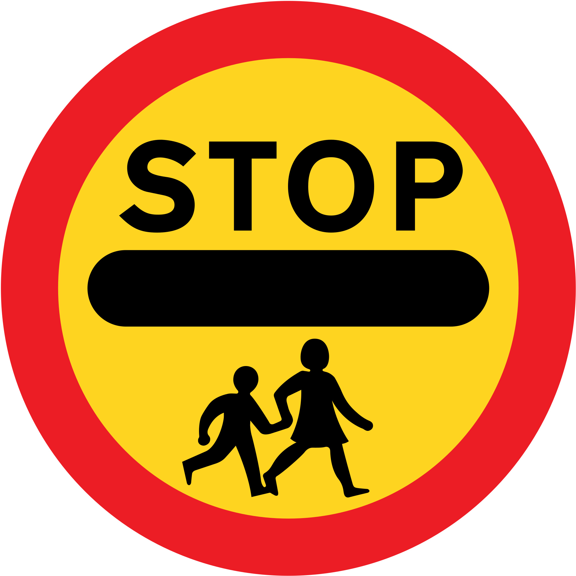 Patrol clipart school traffic. File uk sign svg