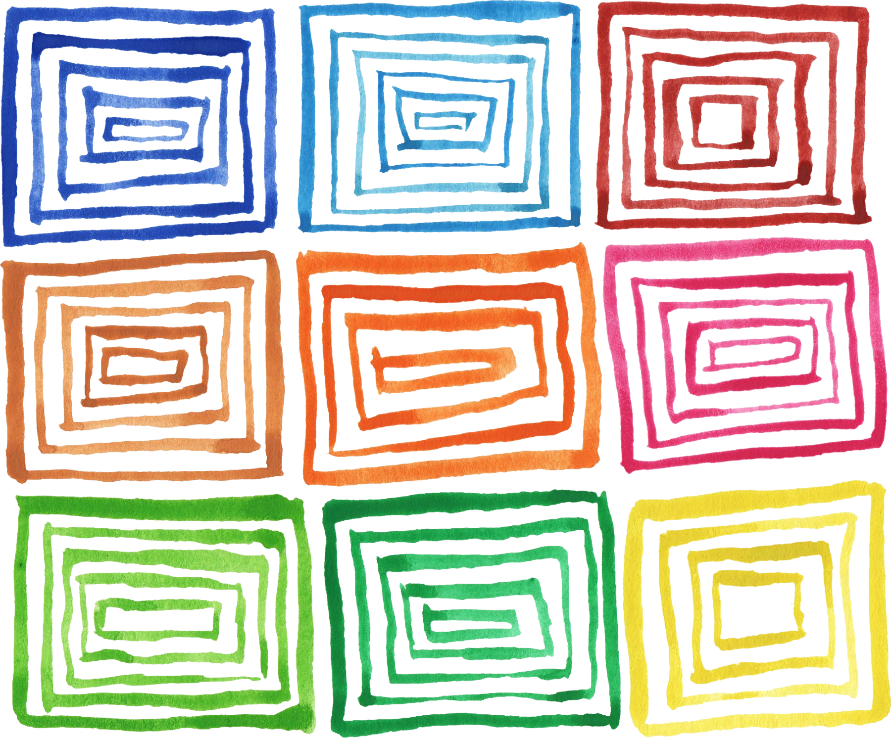 Pattern background png. Colorful watercolor square