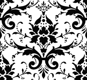 Damask . Pattern clipart vector library stock