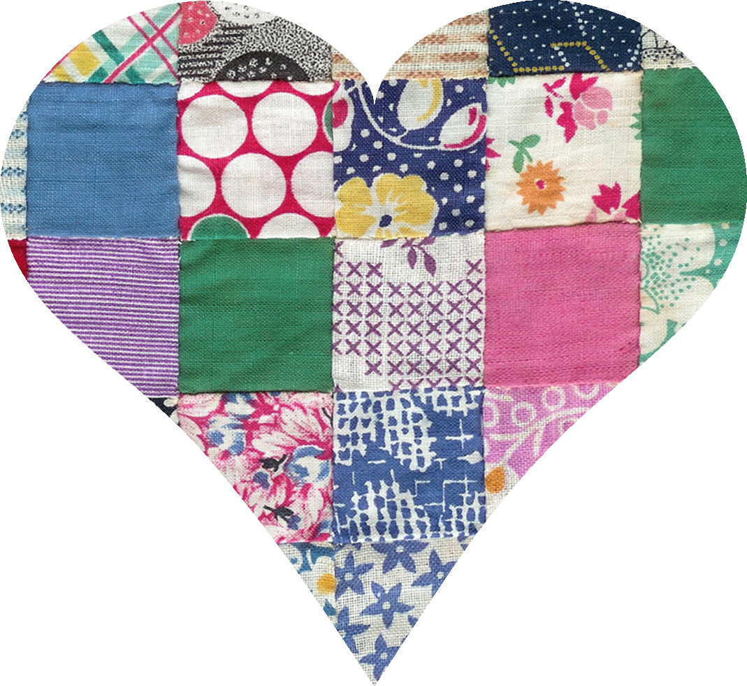 Pattern clipart patchwork quilt. Quilted heart clip art