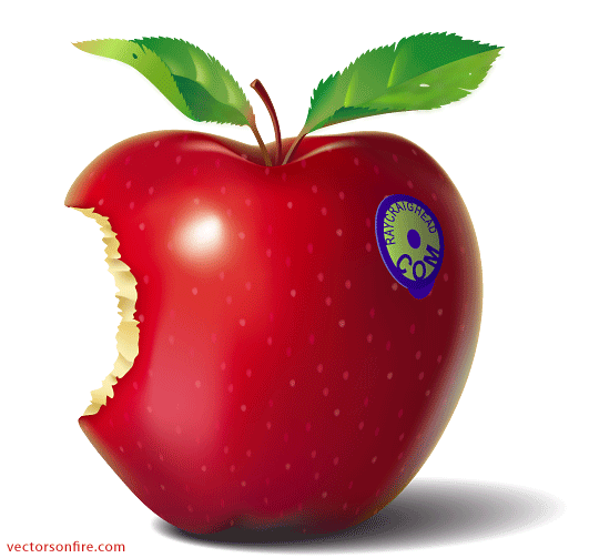 Patterned apples png. Free red eaten apple