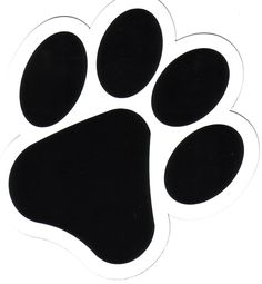 Dog black print silhouette. Paw clip art png black and white stock