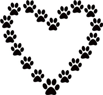 Paw clip art. Dog print free clipart