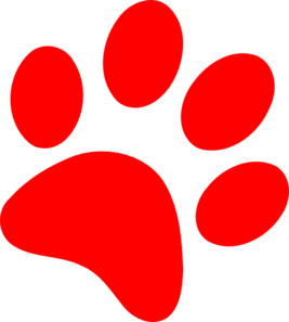 Paw clip art. Grizzly bear print clipart