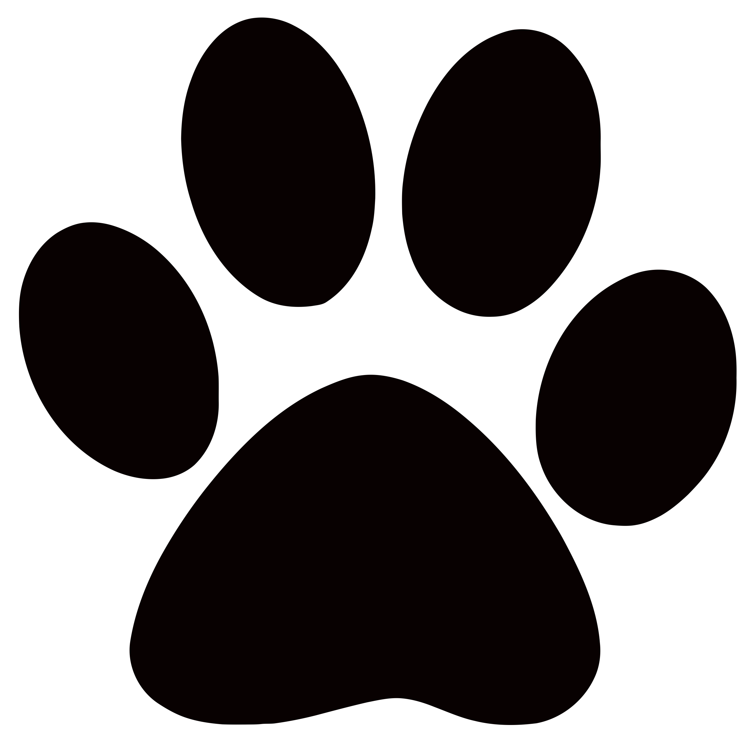 Claws vector panther. Paw print clip art