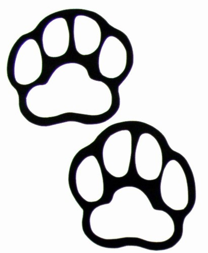 Bear clipart panda free. Paw clip art banner black and white stock