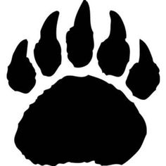 Paw clip art animal. Bearcat bear tracks free