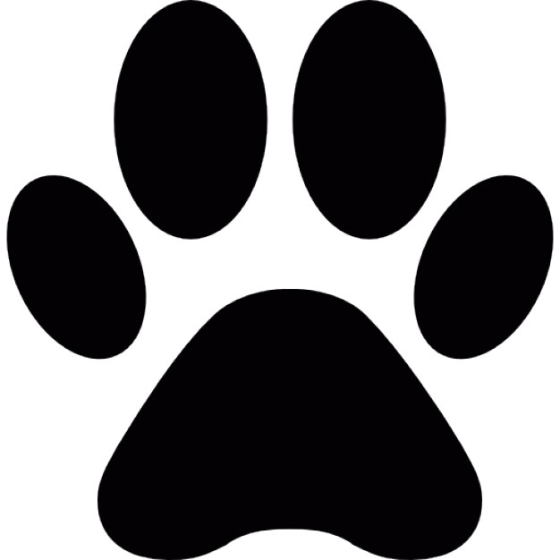 Paw clip art animal. Print shape icons free