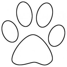 Paw clip art black and white. Print image group dog