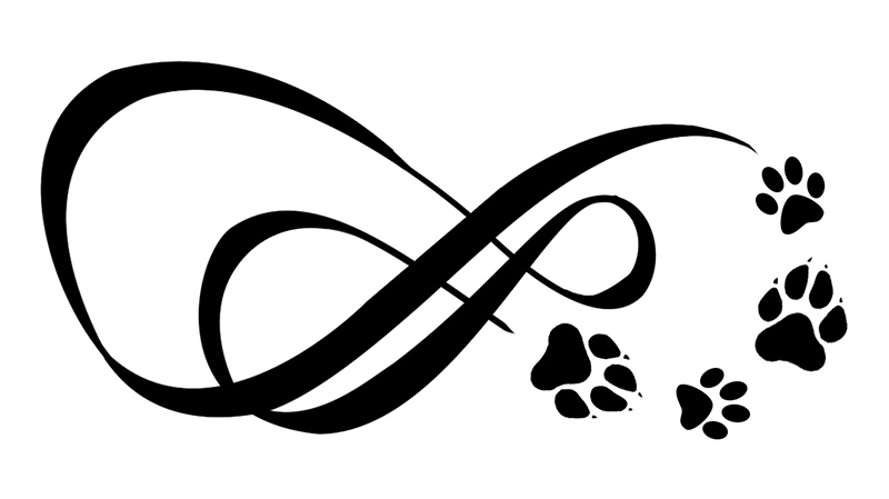 Paw clip art black and white. Cat print drawing at