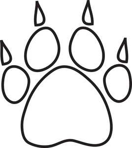 Paw clip art black and white. Bear clipart panda free
