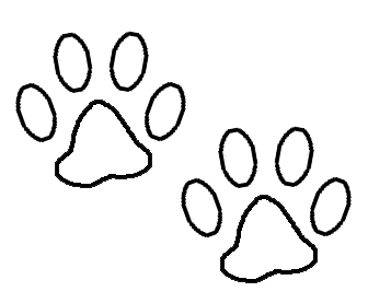 Paw clip art clear background. White print transparent check