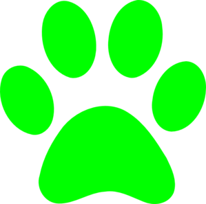 Paw clip art clear background. Blues clues green at