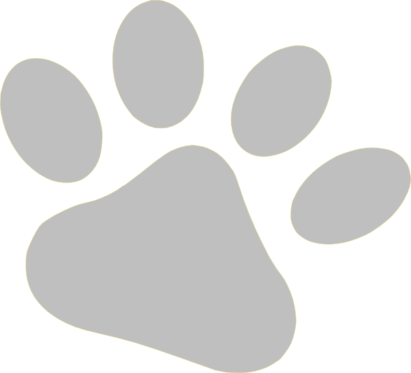 Paw clip art clear background. Slate pet at clker