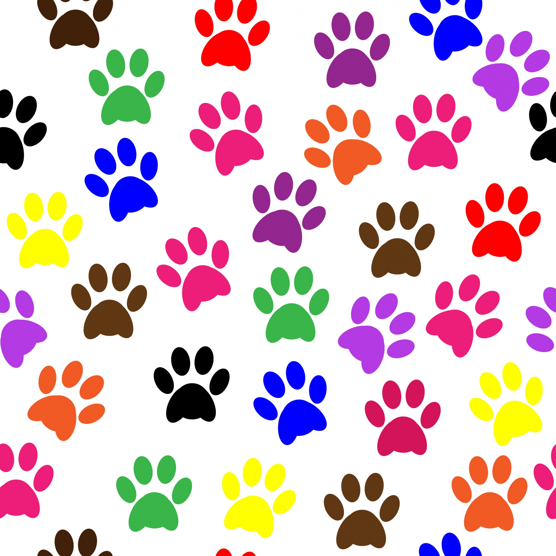 Paw clip art colorful. Prints wallpaper free stock