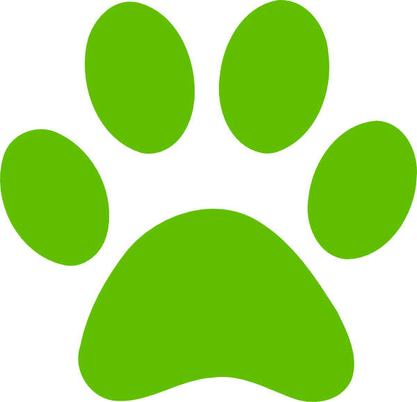 Paw clip art doggie. Dog print free download