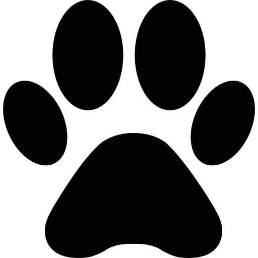 Dog free animals icons. Paw clip art doggie png black and white