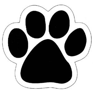 Paw clip art doggie. Print template not quite