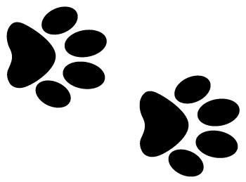 Cat print the best. Paw clip art doggie picture download