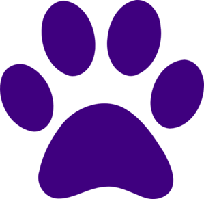 Paw clip art doggie. Purple print at clker