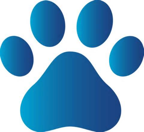 Dog print free download. Paw clip art doggie picture free