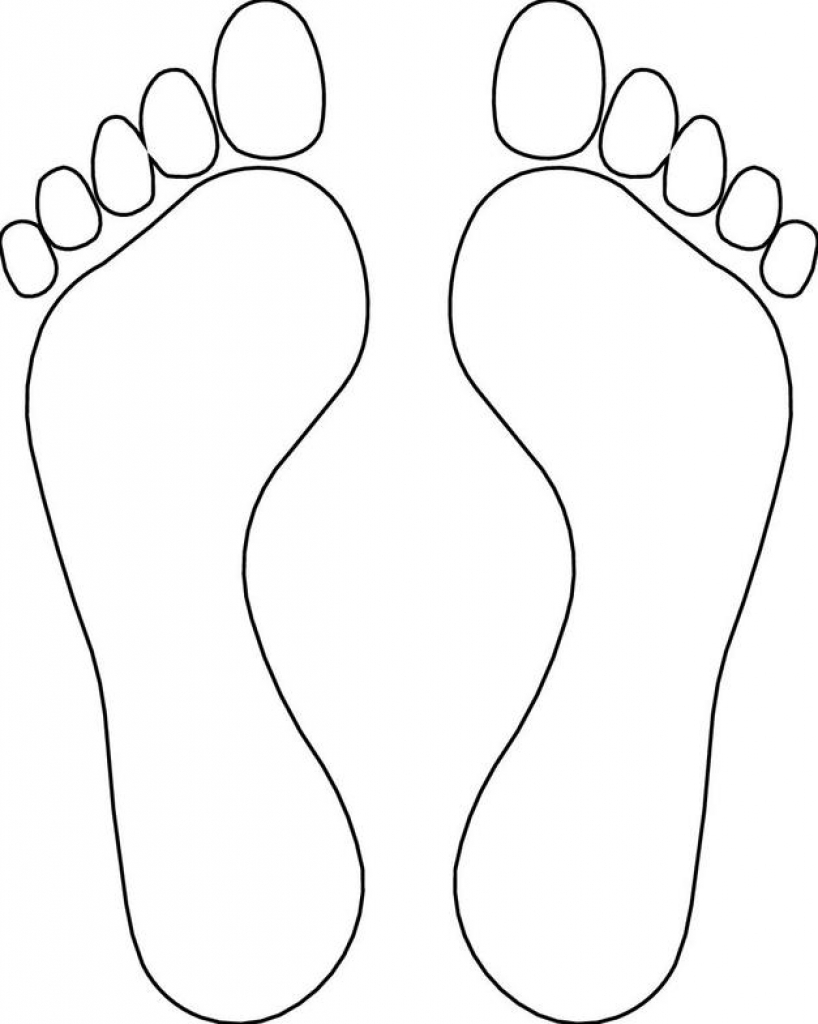 Feet clipart one foot. Outline drawing at getdrawings