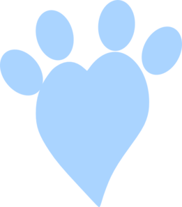 Paw clip art heart. Free cliparts download on