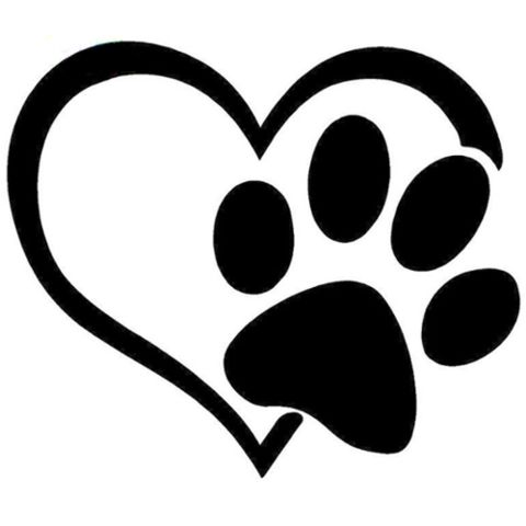 Paw clip art heart. Print clipart marcia richards