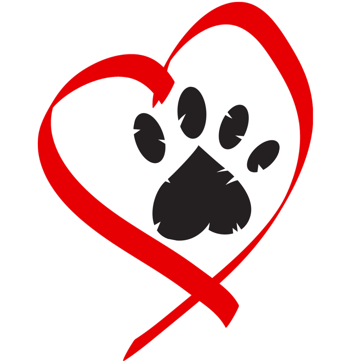 Paw clip art heart shaped. Best photos of dog