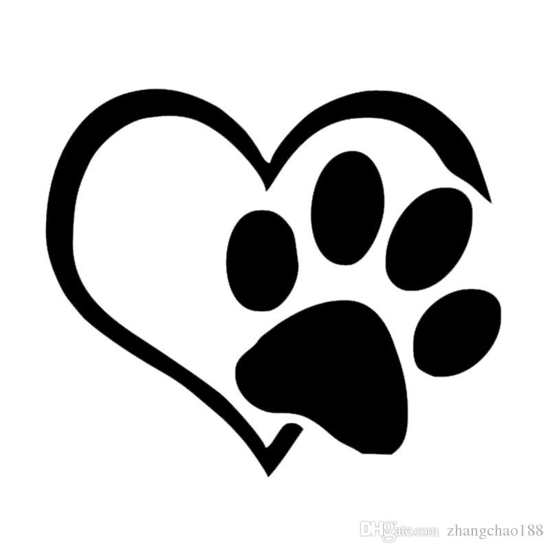 Paw clip art heart shaped. Brand new car